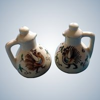 Vintage Rooster Teapot Salt & Pepper Shakers Made in Japan Mid-Century Figurines