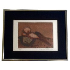 Martha Palmquist, Abstract Etching Works on paper Signed and Numbered Limited Edition of 2