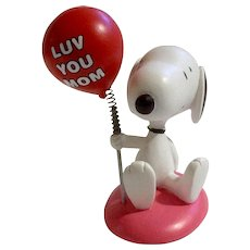 Rare Discontinued Valentine Luv You Mom, Ultimate Snoopy Hand Painted Danbury Mint Miniature Figurine