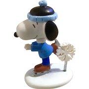 Rare Discontinued Winter Wonderland Ice Skating, Ultimate Snoopy Hand Painted Danbury Mint Miniature Figurine