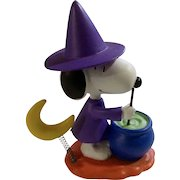 Rare Discontinued Halloween Witch Ultimate Snoopy Hand Painted Danbury Mint Miniature Figurine