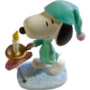 Rare Discontinued Sleep Walking Ultimate Snoopy Hand Painted Danbury Mint Miniature Figurine