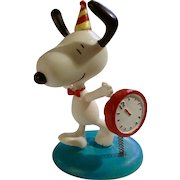 Rare Discontinued Happy New Years Ultimate Snoopy Hand Painted Danbury Mint Miniature Figurine It's Party Time!