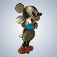 Vintage Zuni Disney Mickey Mouse Ring By Veronica Nastacio & Amelio