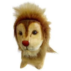 "Vintage R. Dankin & Co. Toy Lion 12"" Stuffed Plush Animal Made in Japan 1957-1970's"