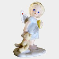 1995 Bedtime In The Clouds Bronson Collectible from the Tender Hearts by Katherine Stevenson Collection Angel Figurine