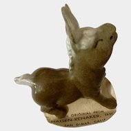 Hagen Renaker Papa Donkey 1951 to 1978 Closed Eye Brownish Gray California Pottery Figurine