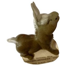 Hagen Renaker Papa Donkey 1951 to 1978 Closed Eye Brownish Gray California Pottery Figurine