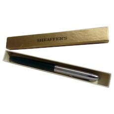 Vintage Sheaffer Snorkel Fountain Pen Green and Silver W.A. #304 Chrome Nib and Top