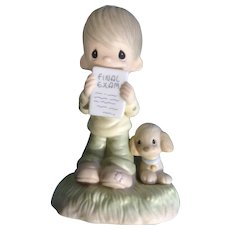 Precious Moments God Understands Little Boy Crying Over His Exam Figurine E1379BR Retired