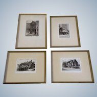 Cecil Forbes & A Goodwin Fine Genuine Original Etchings Works on Paper Limited Edition of 150 Dickens Old Curiosity Shop Signed By Artist Set of 4