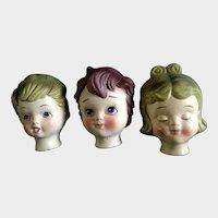 Mid-Century Doll Heads Dexter's Papier Maché Lee Wards Mid-Century
