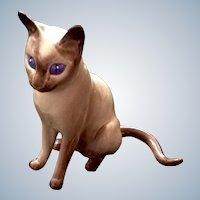 Vintage Hagen Renaker Abyssinian Cat DW Ah Choo, 1st Version Designer's Workshop Figurine #582