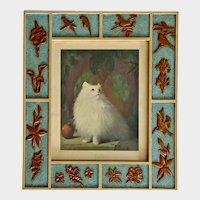 Margaret McDonald Phillips Queen of Persia Cat Print Intarsia Frame