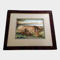 Excellent Giclee Print of Indians on the Hunt Signed by Artist