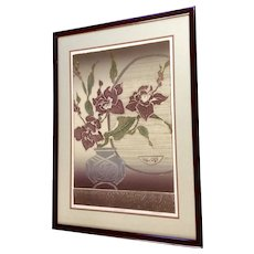 Karen Chambellain, Lilly Window Intaglio Print Limited Edition Signed by Artist
