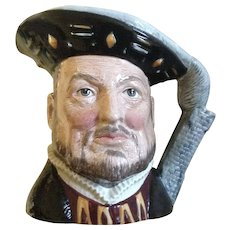 1975 Royal Doulton King Henry VIII Toby Jug Mug D6647 Limited Edition England