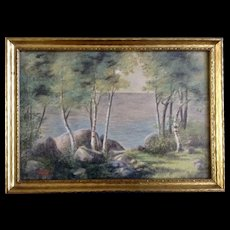 S. E. Heald, Landscape Pastel and Watercolor Painting Mixed Media Works on Paper 20th Century Signed by Artist