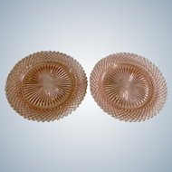 """Pink Depression Glass Anchor Hocking Salad Plate in Miss America 8-1/2"""""""