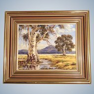 Billie Thomas (1920 - 2012), You Yangs, Lara Victoria, Australia, Oil Painting on Canvas Board, Signed By Listed Australian Artist