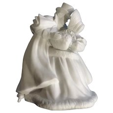 """Discontinued Vintage Skating Couple Department 56 Winter Silhouettes Bisque Porcelain Figurine 9-1-4 """""""