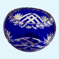 Glass Cobalt Blue Votive Candle Holder Fifth Avenue LTD Crystal