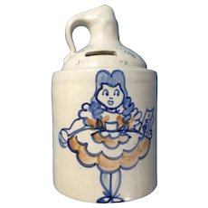 1949 Ceramic Jug Pottery Bank Agnestrong Ltd Girl with a Boo