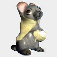 Vintage Hagen Renaker Designers Workshop Mama Country Mouse #540/36 1950s Grey Retired Ceramic Figurine Animal