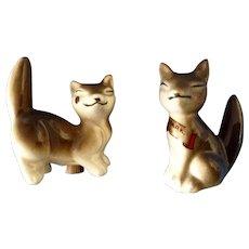 Vintage Fox Salt & Pepper Shakers Occupied Japan Estes Park, Colorado Souvenir Adorable Figurines