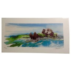 Keith Greba Otter in a Kelp Bed Limited Edition Print #344, Signed and Numbered by Artist