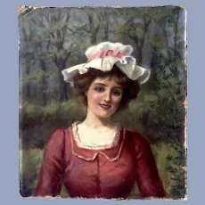 William Howard Robinson, Maid Portrait Oil Painting Signed by Listed Artist