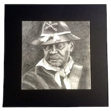Union Soldier from the Civil War, Graphite Pencil Drawing Works on Paper