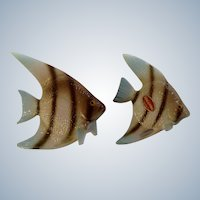 Bone China Miniature Angel Fish Vintage Figurines Made In Japan