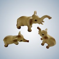 Elephant Fine Bone China Miniatures Vintage Ceramic Animal Family Figurines Numbered 80547