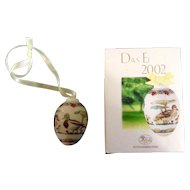 Easter Hutschenreuther Ornament The Egg 2002 Luovo Design le Winther Limited To The Year