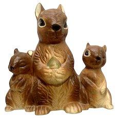 Vintage Norcrest Squirrels Figurine Bank Adorable Ceramic Japan