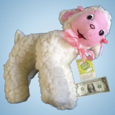 Vintage Gerber Atlanta Novelty Large Easter Lamb Stuffed Plush Animal Toy Products Company