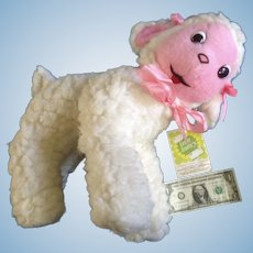 Vintage Gerber Atlanta Novelty Large Easter Lamb Stuffed Plush Animal Toy Products Company