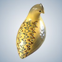 Roselane Partridge Bird Figurine Pasadena California Pottery Figurine Vintage Mid-Century