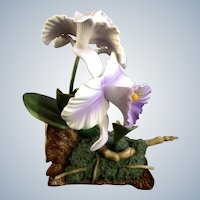 Andrea by Sadek Orchid Purple Cattleya Flowers 9735 Porcelain Figurine Discontinued