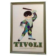 Tivoli Copenhagen Poster Rare Masked Harlequin Boy 1972 Richardt Denmark by Permild & Rosengreen