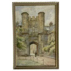 The Bishop's Eye in Wells, Somerset, England, is a 15th century entrance gateway into the Bishop's Palace. The Bishop's Eye was built around 1450, by Bishop Thomas Beckington.