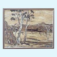 J. Dalton, Eucalyptus Trees in Australian Outback Wood Bark Picture