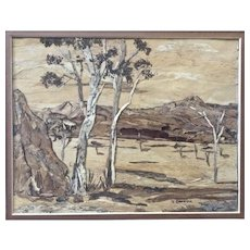 J. Dalton, Eucalyptus Trees in Australian Outback Wood Bark Picture