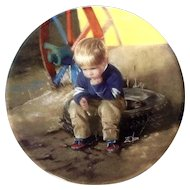 """1991 Donald Zolan Miniature Plate The Thinker #3641 C Special Issue with Original Box 3-1/4 """""""