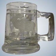 Shot Glass Miniature Etched Elk Colorado Beer Stein Souvenir