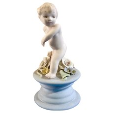 Early Susi Singer California Studio Art Pottery Hand Sculpted Child Running Figurine Pastel Colors 253