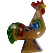 Vintage Dalecarlian Rooster Wood Dala Figurine Hand Carved and Painted Sweden
