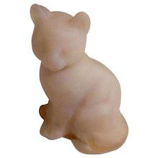 Fenton Burmese Satin Pink Cat Glass Figurine 5165