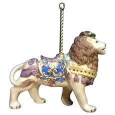 Lenox Carousel Lion King Christmas Tree Ornament Retired Porcelain 1989